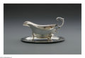 Silver Holloware, American:Sauce Boats, An American Silver Gravy Boat and Underplate. Mark of Tiffany &Co., New York, NY, 1935. The Tiffany gravy boat raised on ...(Total: 2 Items)
