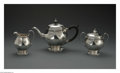 Silver Holloware, American:Tea Sets, An American Silver Tea Service. Mark of Tiffany & Co., New York, NY, 1911. The bachelor tea service of a teapot, creamer a... (Total: 3 Items)