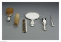 Silver Holloware, American:Vanity, A Six-Piece American Silver Dresser Set Mark of Tiffany & Co.,New York, NY, c.1910 The set includes a hand mirror, hair... (6Items)