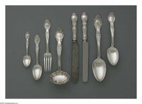 An American Silver Flatware Set Mark of Tiffany & Co., New York, NY, 1892  The 'Richelieu' pattern set includes five...