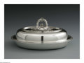 Silver Holloware, American:Vegetable Dish, An American Silver Vegetable Dish. Mark of Tiffany & Co., NewYork, NY, 1868. The oval lidded dish with leaf finial, monog...(Total: 2 Items)