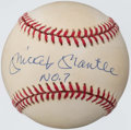 "Autographs:Baseballs, Mickey Mantle ""No. 7"" Single Signed Baseball - UDA. ..."