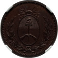 Argentina:Buenos Aires, Argentina: Buenos Aires. Provincial copper Proof Pattern Decimo1822 PR63 Brown NGC,...