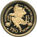 Mongolia, Mongolia: People's Republic gold Proof 750 Tugrik 1980 Gem CameoProof,...
