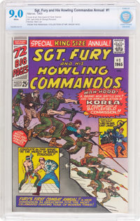 Sgt. Fury and His Howling Commandos Annual #1 (Marvel, 1965) CBCS VF/NM 9.0 White pages