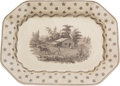Political:3D & Other Display (pre-1896), William Henry Harrison: Columbian Star Meat Platter....