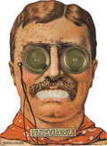 """Political:3D & Other Display (1896-present), Theodore Roosevelt: A Fantastic """"Googly Eyes"""" Dexterity Game for the 1912 Bull Moose Candidate. ..."""