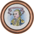 Political:3D & Other Display (pre-1896), George Washington: Battersea or Bilston Curtain Tie-Back....