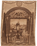 Political:Textile Display (pre-1896), George Washington: A Rare Large, Early Memorial Textile inExceptional Condition....