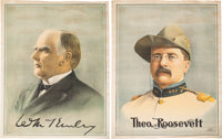 McKinley & Roosevelt: A Spectacular Pair of Large 1900 Cloth Campaign Banners in Virtually Mint Condition