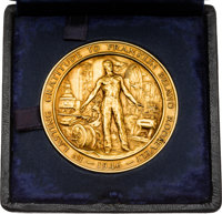 Franklin D. Roosevelt: Awesome Posthumously-Awarded CIO Gold Medal by Jo Davidson