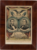 Political:Posters & Broadsides (1896-present), Lincoln & Johnson: Jugate Grand National Banner....