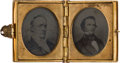 Political:Ferrotypes / Photo Badges (pre-1896), Buchanan & Breckinridge: A Unique Jugate Pair of AmbrotypeImages from the 1856 Campaign....