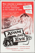 """Movie Posters:Drama, Adam and Eve & Other Lot (William A. Horne, 1958). Flat Folded One Sheets (2) (27"""" X 41""""). Drama.. ... (Total: 2 Items)"""