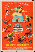 "Movie Posters:Musical, Seven Brides for Seven Brothers (MGM, 1954). One Sheet (27"" X 41"").Musical.. ..."