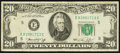 Error Notes:Ink Smears, Ink Smear on Back Error Fr. 2071-E $20 1974 Federal Reserve Note.Very Fine.. ...