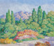 Birger Sandzén (American, 1871-1954) View from the Artist's Studio, Santa Barbara, 1950 Oil on Masonite 20 x 24 i...