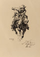 William Robinson Leigh (American, 1866-1955) Study for The Stampede, 1914 Ink on board 14-1/8 x 9-1/2 inches (35.9 x