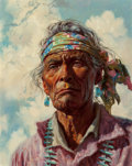Fine Art - Painting, American, Ralph Brownell McGrew (American, 1916-1994). Chischille. Oilon board. 19-1/2 x 15-1/4 inches (49.5 x 38.7 cm). Signed l...