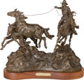 Sculpture, Grant Speed (American, 1930-2011). Running Wild Horses, 1983. Bronze with brown patina. 16-1/4 inches (41.3 cm) high on ...