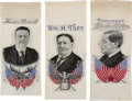 Political:Ribbons & Badges, Woodrow Wilson, Theodore Roosevelt, and William Howard Taft: Three Nice Woven Ribbons. ... (Total: 3 Items)