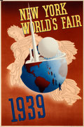 """Movie Posters:Miscellaneous, New York World's Fair (Grinnell Litho Co., 1939). Exhibition Poster(20"""" X 30"""").. ..."""
