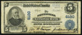 National Bank Notes:Kentucky, Paintsville, KY - $5 1902 Plain Back Fr. 608 The Paintsville NB Ch.# 6100. ...