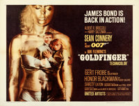 "Goldfinger (United Artists, 1964). Half Sheet (22"" X 28"")"