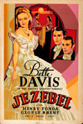 "Movie Posters:Drama, Jezebel (Warner Brothers, 1938). Silk-Screen Poster (40"" X 60"")....."