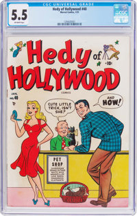Hedy of Hollywood #40 (Atlas, 1951) CGC FN- 5.5 Off-white pages