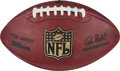 Football Collectibles:Balls, 2008 Brandon Jacobs Game Used NFC Championship Game Touchdown Football....