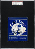 Autographs:Others, Signed 1960's Glenn Berry Blue Jeans Label Mickey Mantle SGCAuthentic. ...