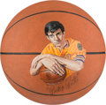 Basketball Collectibles:Balls, 1970's Pistol Pete Maravich Signed Basketball....
