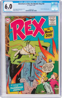 Adventures of Rex the Wonder Dog #20 (DC, 1955) CGC FN 6.0 Off-white pages