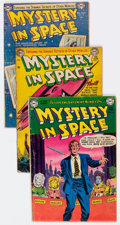 Golden Age (1938-1955):Science Fiction, Mystery in Space Group of 8 (DC, 1952-57) Condition: Average GD....(Total: 8 Comic Books)