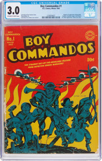 Boy Commandos #1 (DC, 1942) CGC GD/VG 3.0 Off-white to white pages