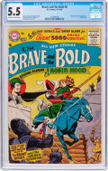 Silver Age (1956-1969):Adventure, The Brave and the Bold #8 (DC, 1956) CGC FN- 5.5 Off-white to white pages....