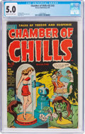 Golden Age (1938-1955):Horror, Chamber of Chills #22 (#2) (Harvey, 1951) CGC VG/FN 5.0 Cream tooff-white pages....