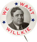 Political:Posters & Broadsides (1896-present), Wendell Willkie: Graphic Picture Pin....
