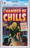 Golden Age (1938-1955):Horror, Chamber of Chills #6 (Harvey, 1952) CGC FN/VF 7.0 Off-white towhite pages....