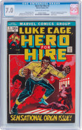 Bronze Age (1970-1979):Superhero, Hero for Hire #1 (Marvel, 1972) CGC FN/VF 7.0 Cream to off-white pages....