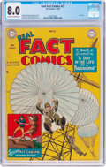Golden Age (1938-1955):Non-Fiction, Real Fact Comics #21 (DC, 1949) CGC VF 8.0 Off-white to whitepages....