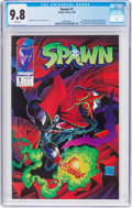 Modern Age (1980-Present):Superhero, Spawn #1 (Image, 1992) CGC NM/MT 9.8 White pages....