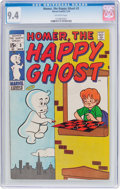 Bronze Age (1970-1979):Humor, Homer, the Happy Ghost #3 (Marvel, 1970) CGC NM 9.4 Off-white pages....
