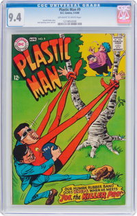 Plastic Man #9 (DC, 1968) CGC NM 9.4 Off-white to white pages