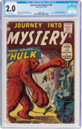 Silver Age (1956-1969):Horror, Journey Into Mystery #62 (Marvel, 1960) CGC GD 2.0 Off-whitepages....