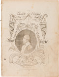 Political:Small Paper (pre-1896), George Washington: Very Rare and Important Sheet Music Honoring Himas President....