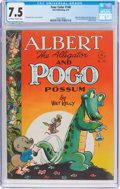 Golden Age (1938-1955):Funny Animal, Four Color #148 Albert the Alligator and Pogo (Dell, 1947) CGC VF-7.5 Off-white to white pages....