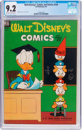 Golden Age (1938-1955):Cartoon Character, Walt Disney's Comics and Stories #150 (Dell, 1953) CGC NM- 9.2Off-white to white pages....