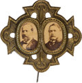 Political:Ferrotypes / Photo Badges (pre-1896), Garfield & Arthur: A Most Unusual and Attractive 1880Jugate....